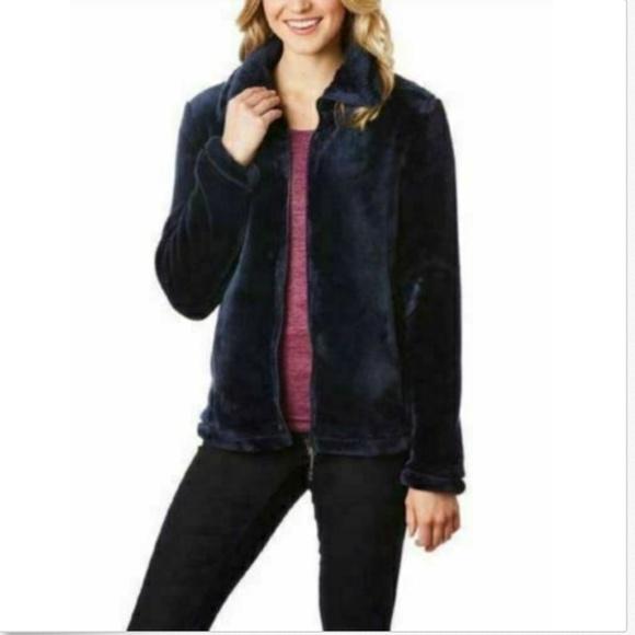 32 Degrees Jackets & Blazers - 32 Degrees Heat Women Plush Faux Fur Full Zip Mock